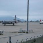 CP140カナダ空軍機の函館AP緊急着陸